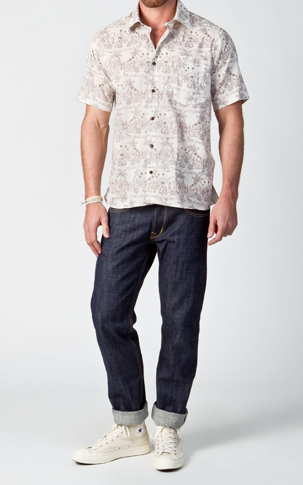 Pike Brothers 1937 Roamer Shirt Short Sleeve Brown Malahi