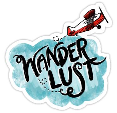 'Fernweh Typografisches Flugzeug' Sticker von Jamie ...