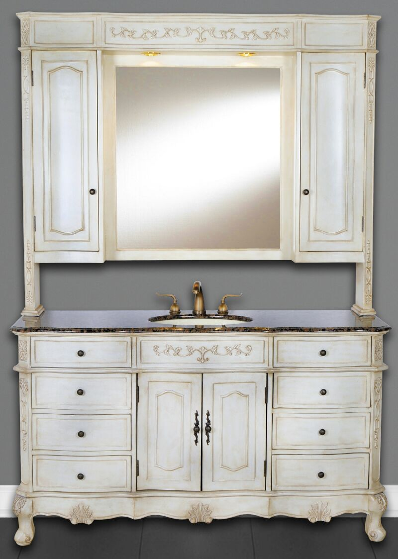 60 Inch Cortina Vanity Single Sink With Hutch