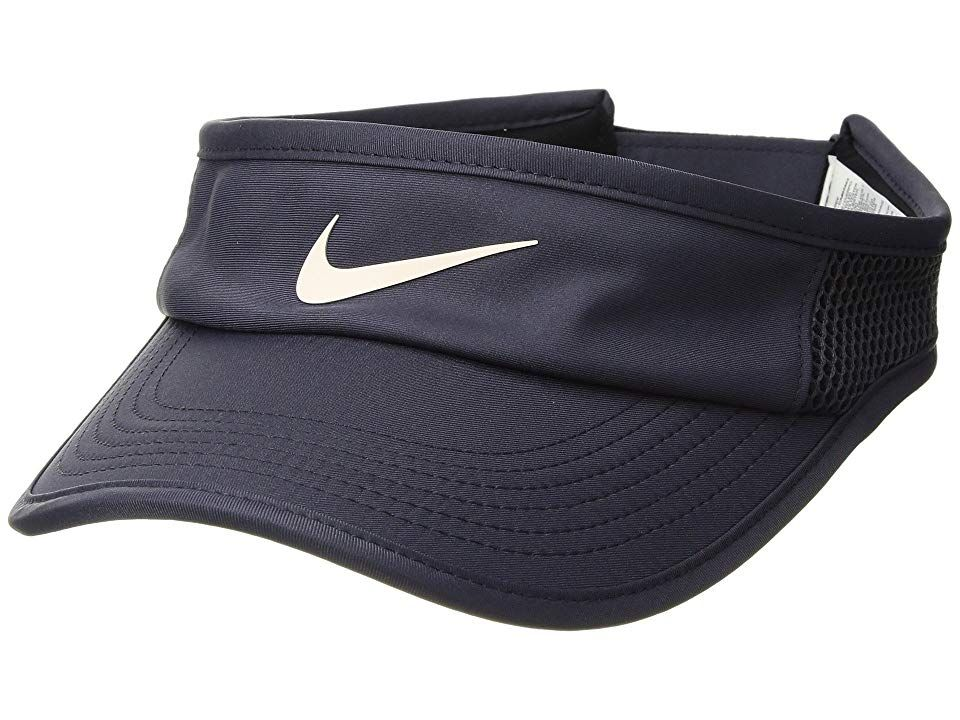 6e756ffef88 Nike Aerobill Featherlight Adjustable Visor (Gridiron Black Guava Ice)  Casual Visor.