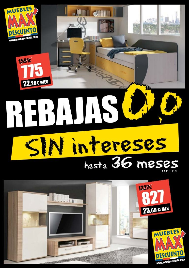 Rebajas De Julio Y Agosto 2013 En Muebles Max Descuento  # Muebles Rebajas