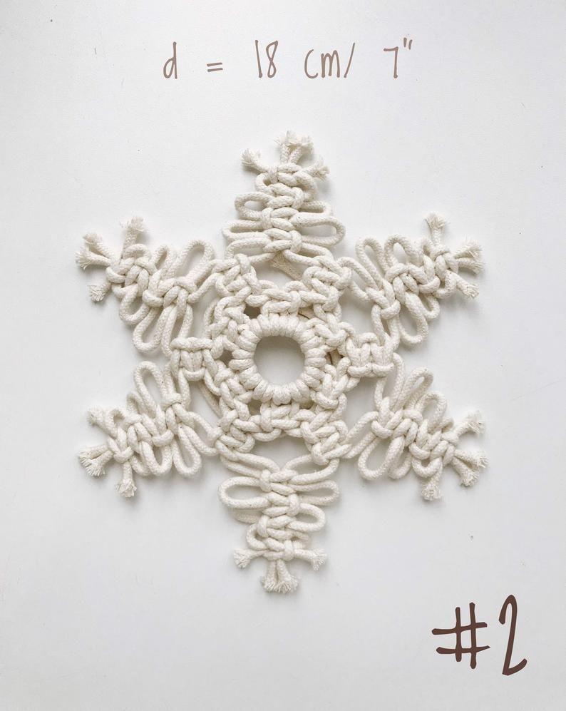 Macrame Snowflake Christmas Decor Snowflake Ornament Etsy In 2021 Christmas Decoration Items Christmas Decorations Christmas Gift Decorations