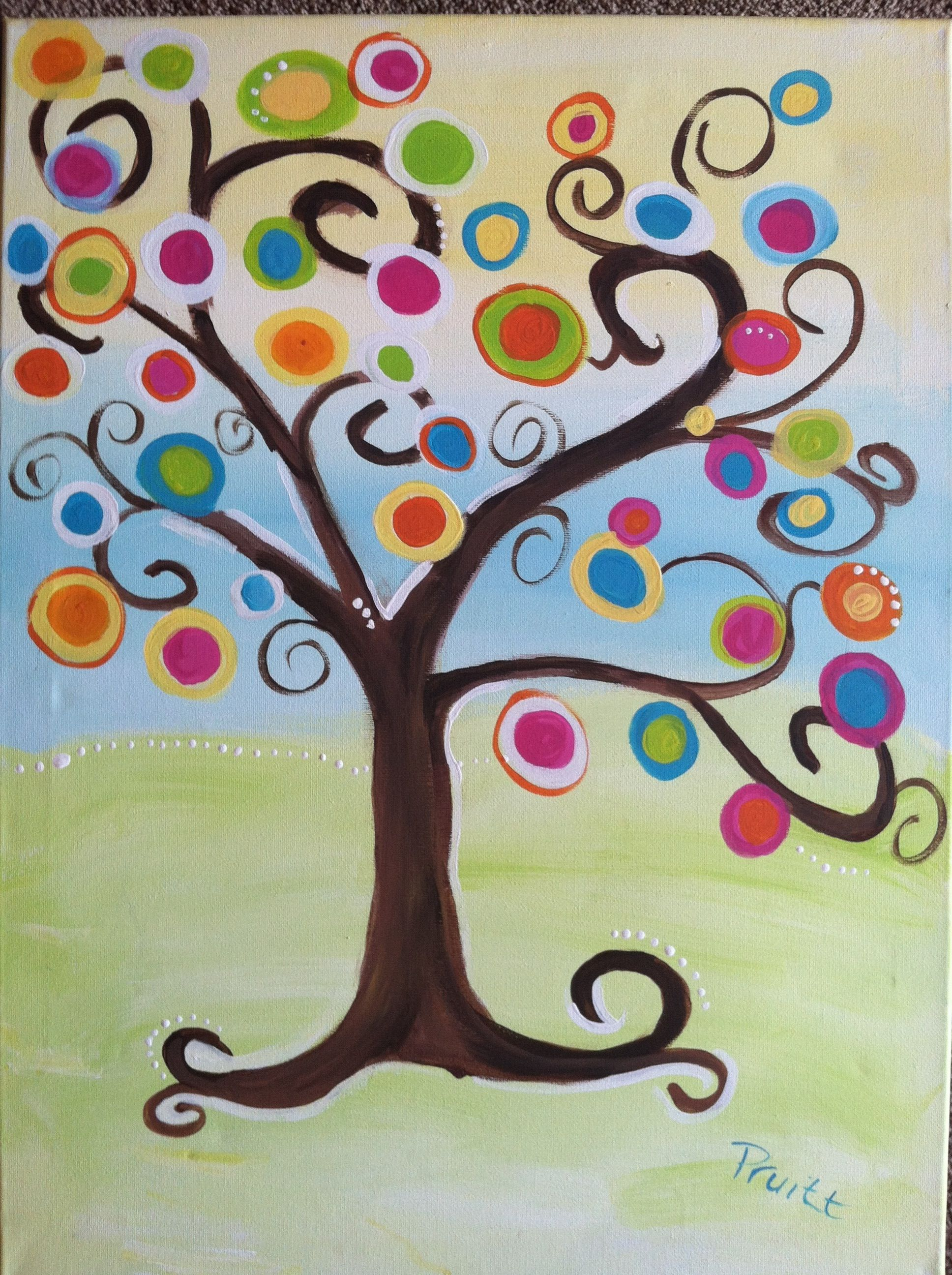 Kandinsky Circles Tree Painting Kandinsky circles tree