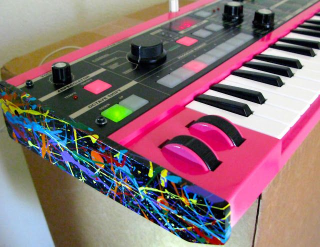 matrixsynth radical custom hot pink jackson pollock korg micro new synths in 2019 pink. Black Bedroom Furniture Sets. Home Design Ideas