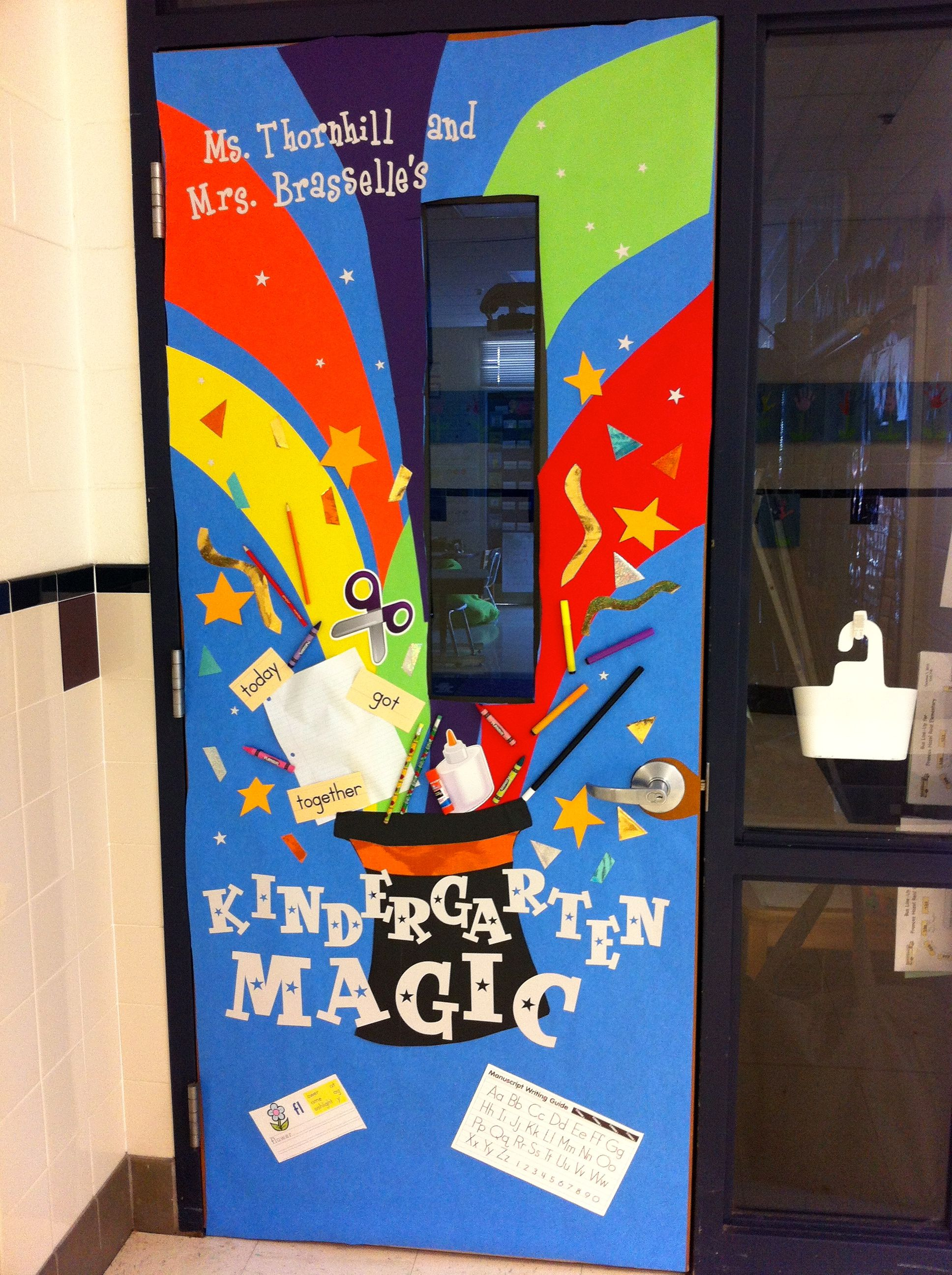 Classroom Decor And Learning ~ Magic theme classroom door decoration for teacher
