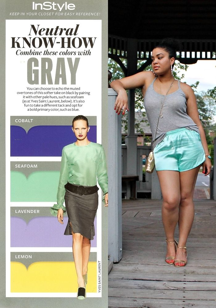 Neutral Know How Gray Seafoam On A Lazy Sunday Find This Pin And More Outfit Color Combinations