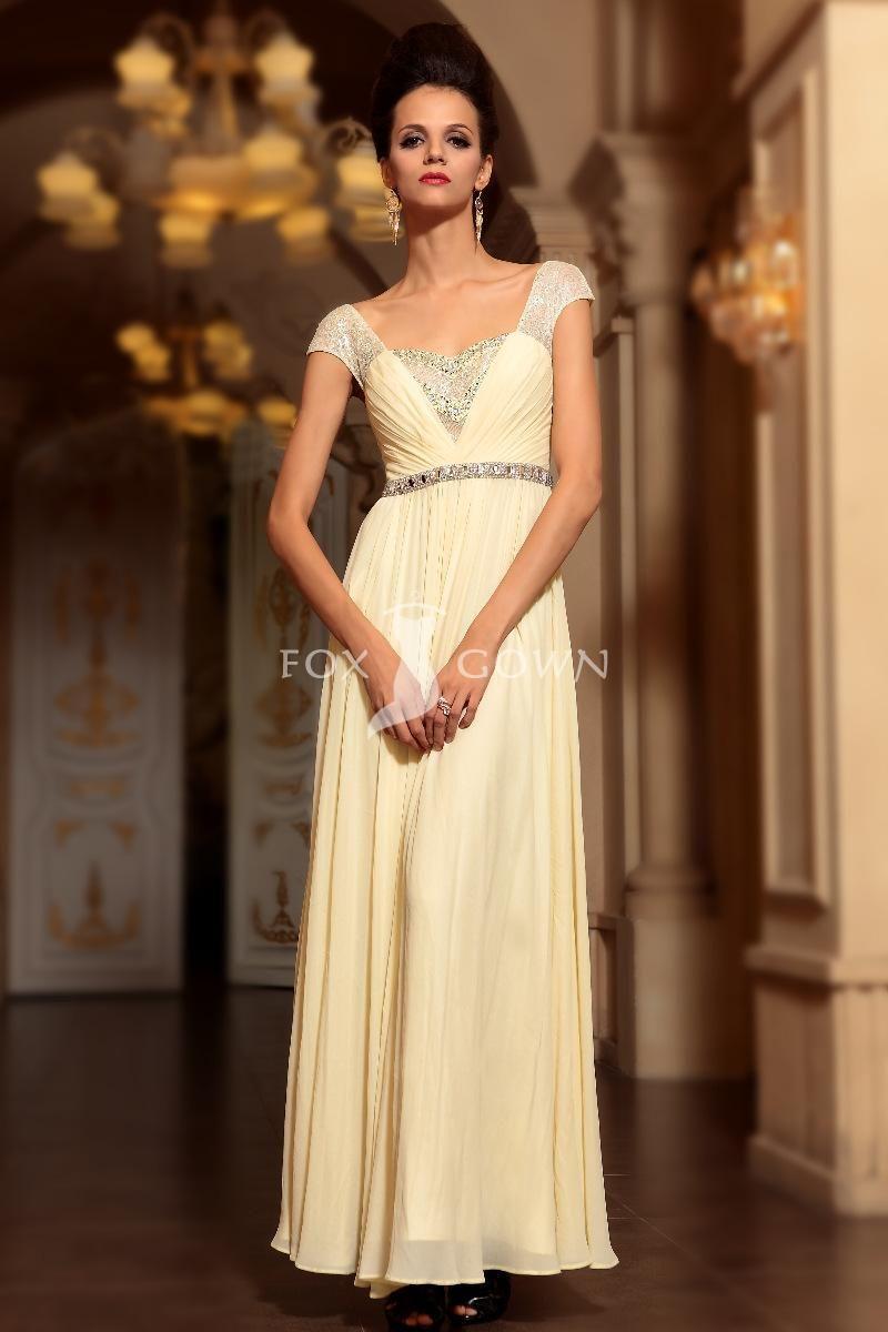 Cap Sleeve Prom Dresses 2013
