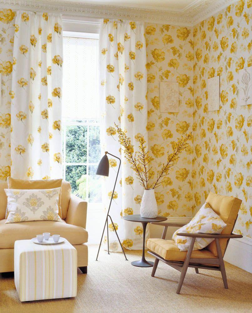 Jane Churchill fabrics and wallpaper | Yellow and white | Pinterest ...