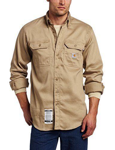 dd4863448f8d ... work shirts carhartt for sale 2016. Carhartt Mens Flame Resistant  Lightweight Twill Shirt