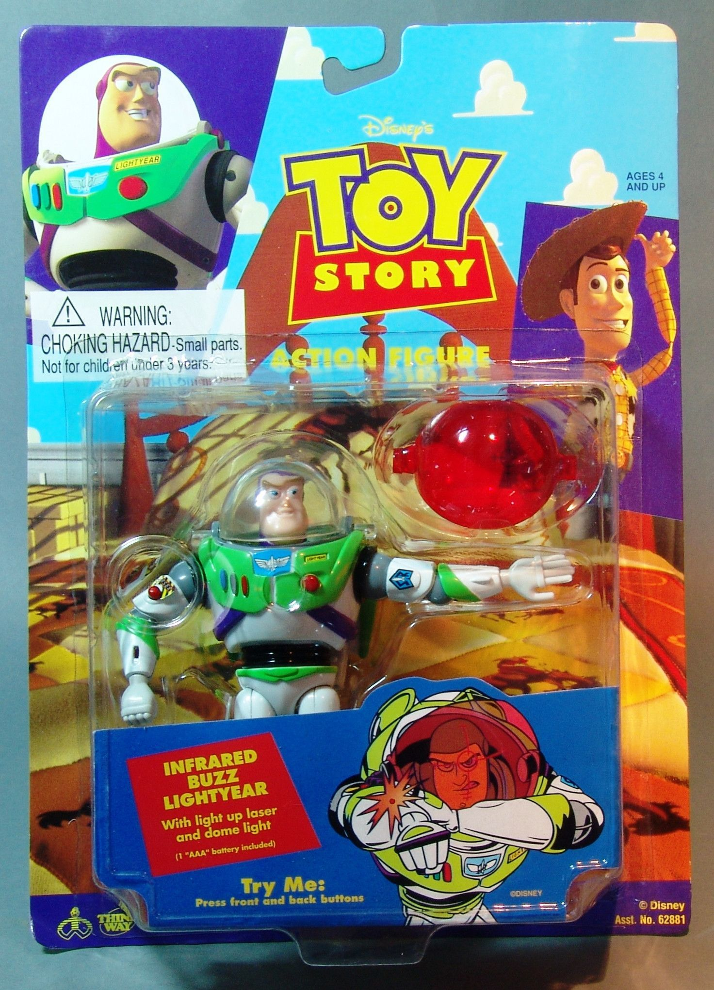 1995 toy story infrared buzz lightyear action figure
