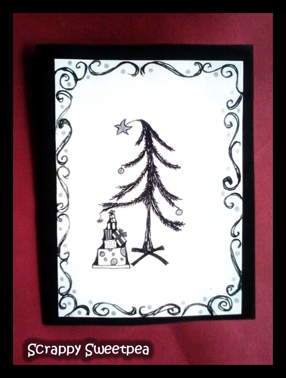 Gothic Christmas Card. | Black Christmas | Pinterest | Gothic, Cards ...