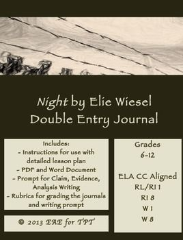 elie wiesels night journal entry essay Elie wiesel was just 15-years-old when he was sent to auschwitz, facing a daily   anne frank's diary: teen identity amid wartime memories.