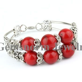 """Aliexpress.com : Buy Free Shipping! Hot Sale Shining 7.5"""" Length 12mm Round Natural Coral Bracelets 10pcs/lot from Reliable Coral Bracelet suppliers on Beijing Gemsnorm Jewelry  Co., Ltd. $44.13"""