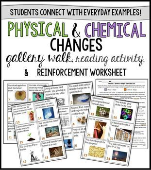 Physical and Chemical Changes : Identifying Everyday Examples ...