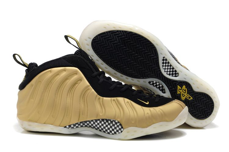 Explore Nike Basketball Shoes and more! Nike Foamposite One Big Size US14  US15 Gold Black