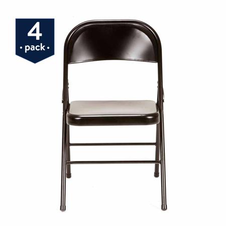 Groovy Mainstays Steel Folding Chair 4 Pack In Multiple Colors Creativecarmelina Interior Chair Design Creativecarmelinacom