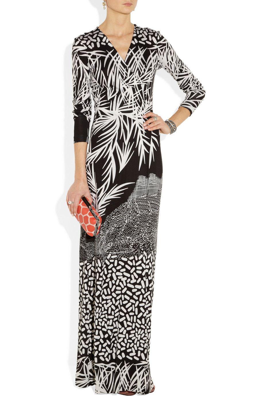 Diane von Furstenberg  Georgina printed silkjersey maxi wrap dress