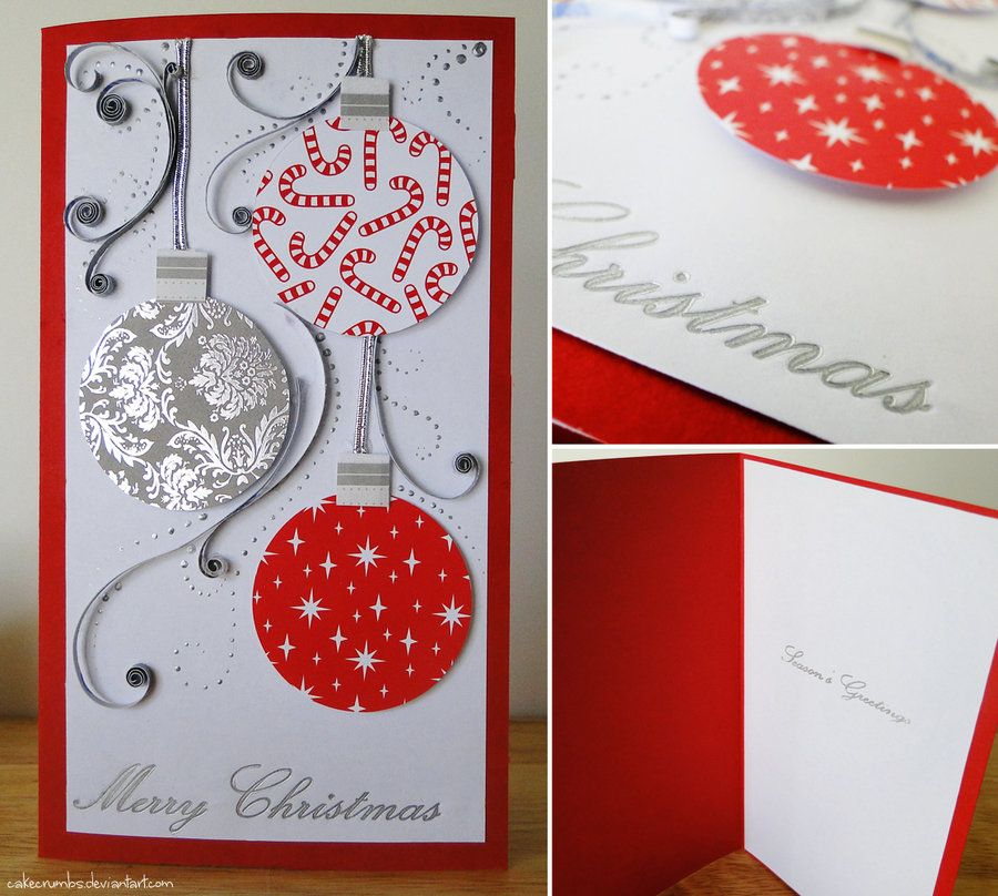 Awesome Card Making Ideas Christmas Part - 11: Handmade Christmas Cards | Handmade Christmas Card [Baubles] By ^cakecrumbs  On DeviantART