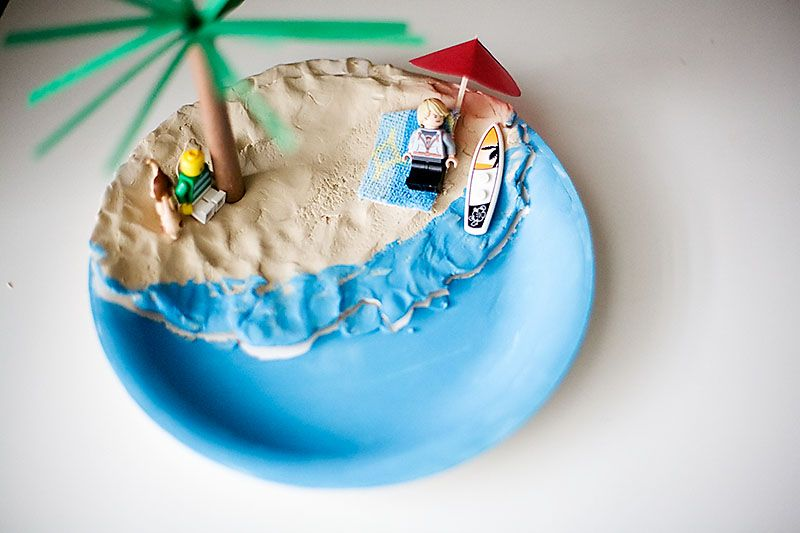 Cute Beach Scene For The Children To Make On A Paper Plate