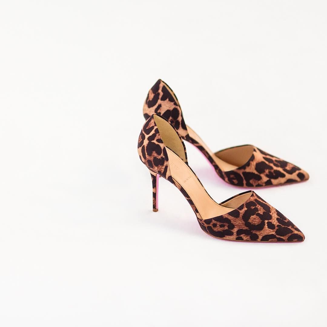#Shinyponies with a pink sole. (What could be better?) Shop our Elsie d'Orsay pumps in leopard via the link in our bio.  P.S. You've got two days left to enter for the chance to win a year's worth of shoes hand picked by Jenna.