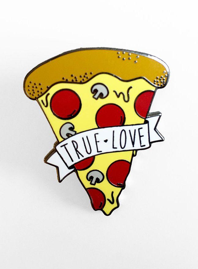Pizza True Love Enamel Pin