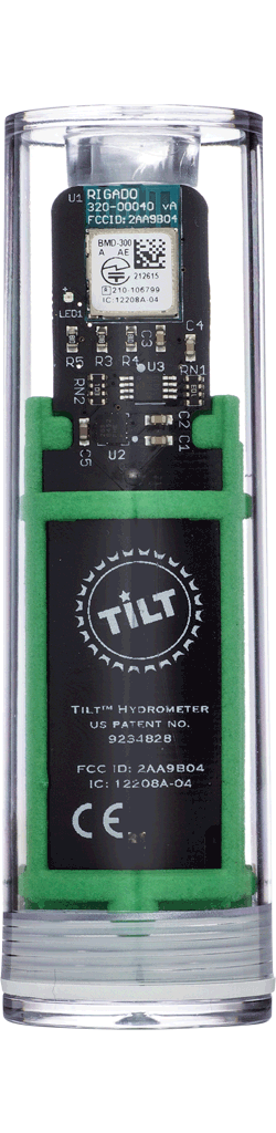 Tilt™ Hydrometer and Thermometer Bottle, Coffee bottle