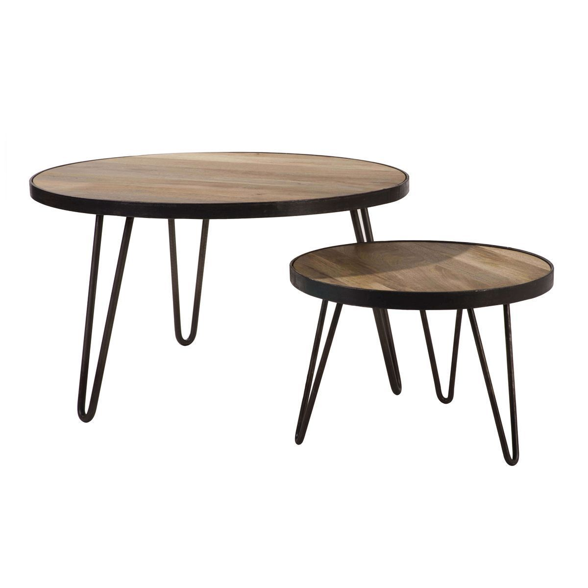 Table Basse Ronde Design Industriel D50 X H35 Cm Atelier Table Basse Ronde Design Industriel Et Table Basse