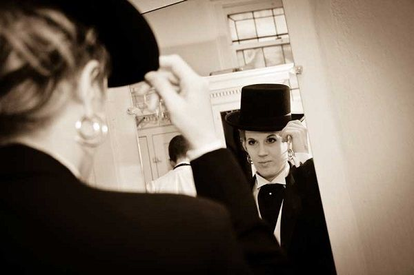 Best woman all jazzed up in a tux. Suit & Tie: Inspiration for Wedding Tuxedos & Suits - Wedding Party