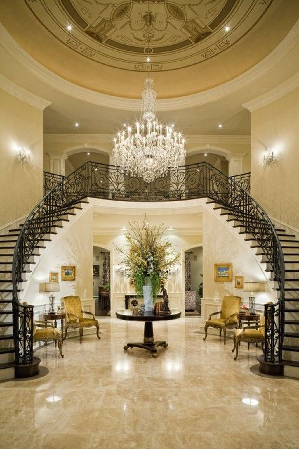25+ Classic And Beautiful Double Sided Staircase Design