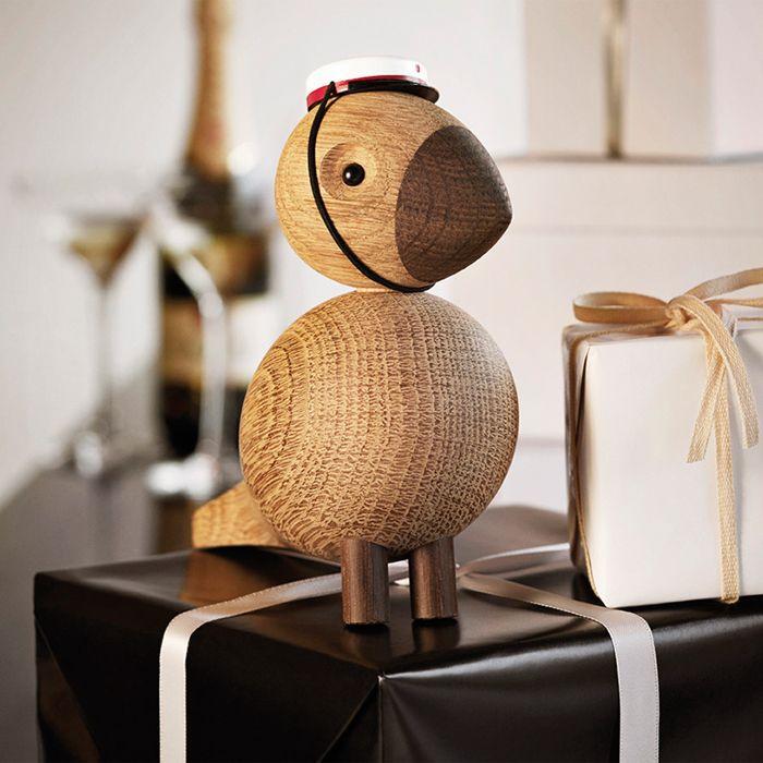Holzfigur Als Vogel Nach Traditionellem Dänischen Design Als Charmantes  Deko Objekt