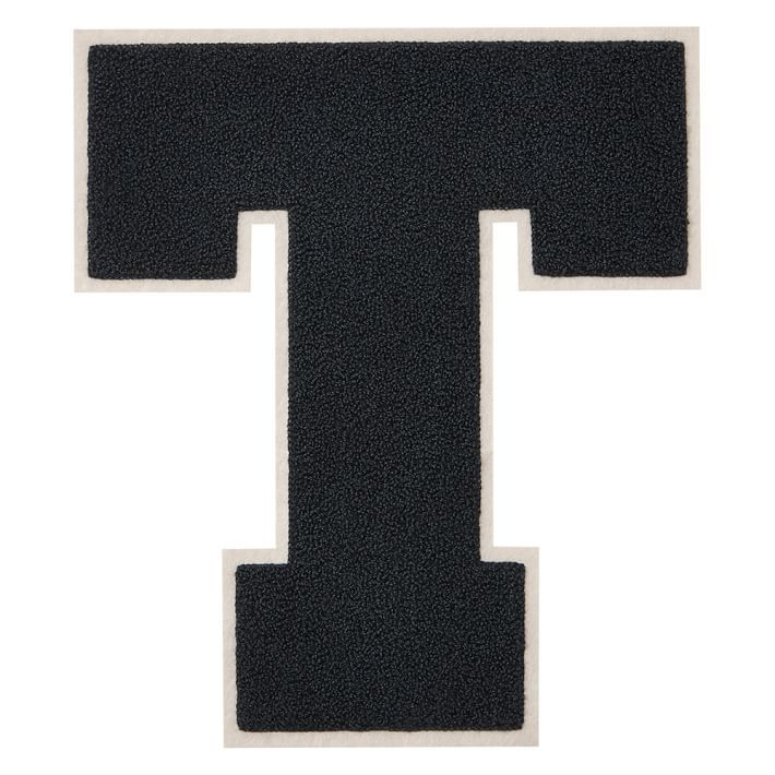 Chenille Varsity Letter T  T    Block Lettering And Craft