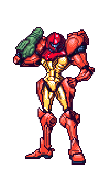 Samus Sprite By Scott Vandusen D5105u9 Png 375 692 Anime Pixel Art Pixel Art Characters Metroid Samus