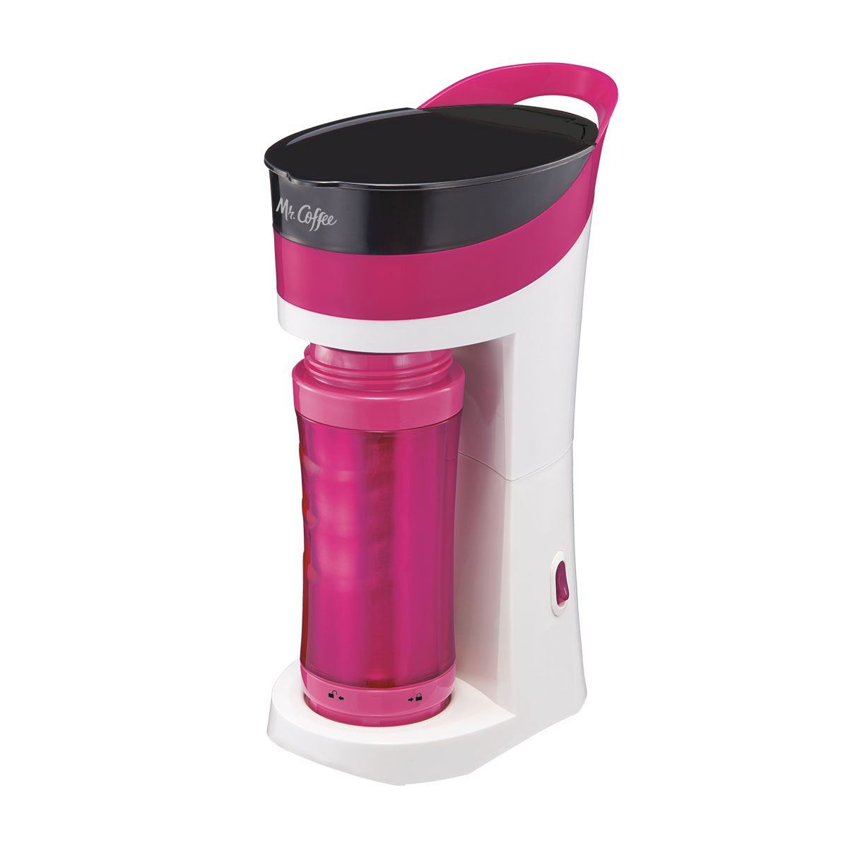 Mr. Coffee® Pour! Brew! Go! Personal Coffee Maker Pink