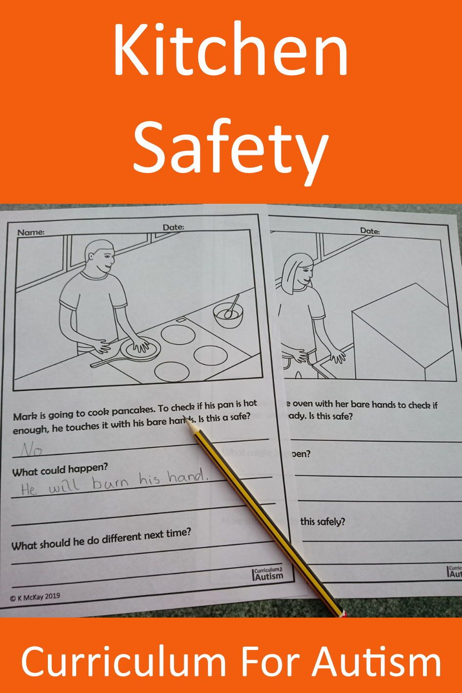Kitchen Cooking Safety Worksheets Social skills lessons