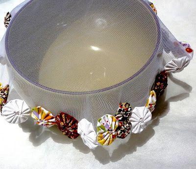 Tecido para tampar jarras e tijelas...