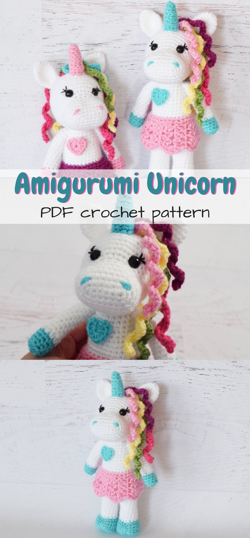 Adorable amigurumi unicorn stuffed toy crochet pattern! Love these ...