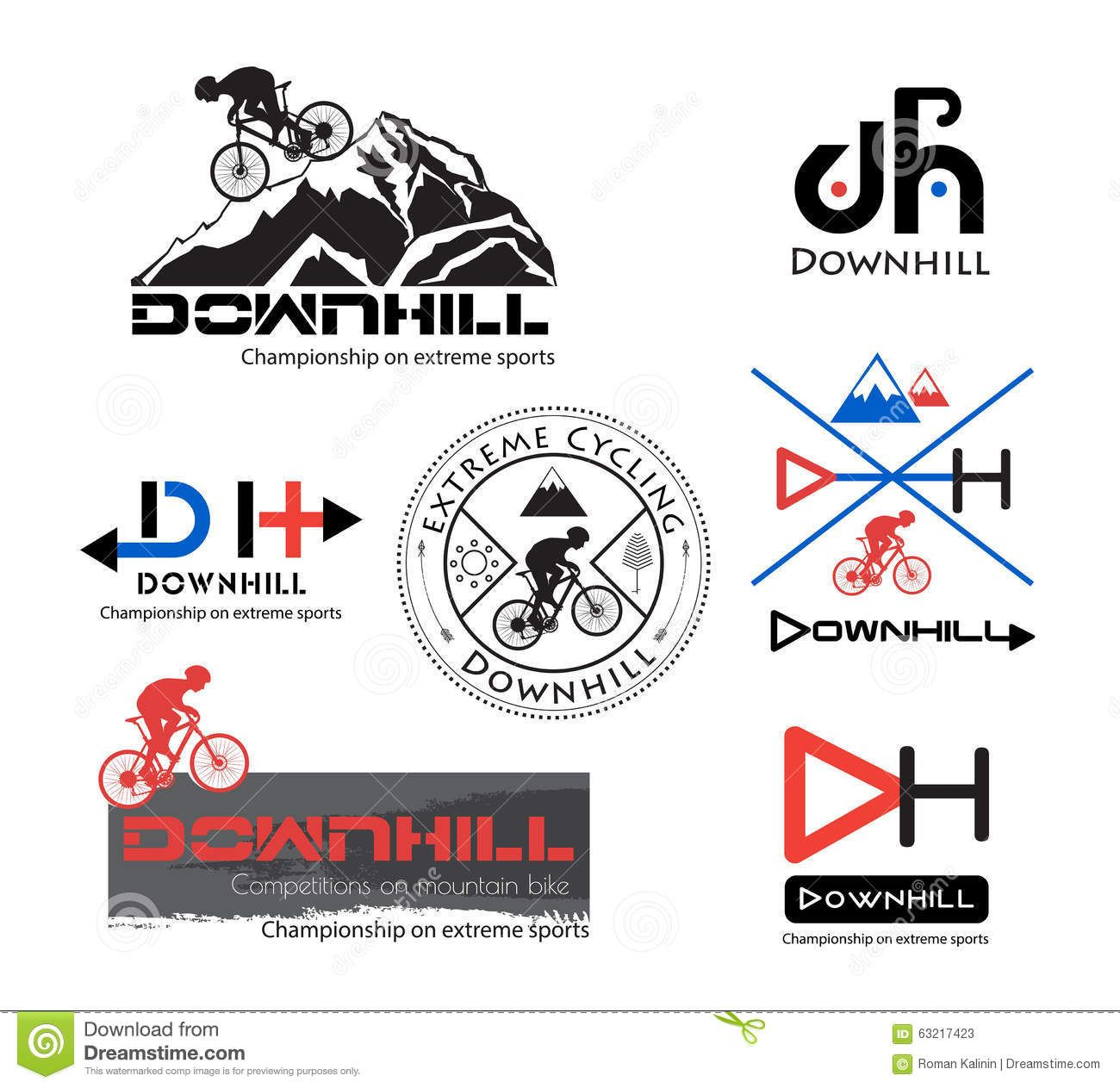 Logo Bike Downhill, Mountain Bike Logo Isolated. - Download From ...