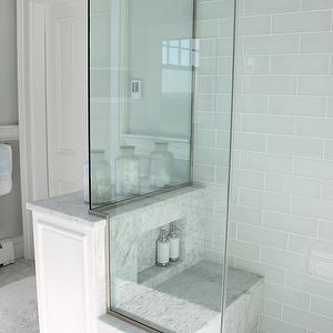 Shower Bench Marble Shower Bench Chair Rail Bathroom Chair Rail Beachy Bathroom Seaside Bathr Glass Tile Shower Cottage Bathroom Blue Glass Tile