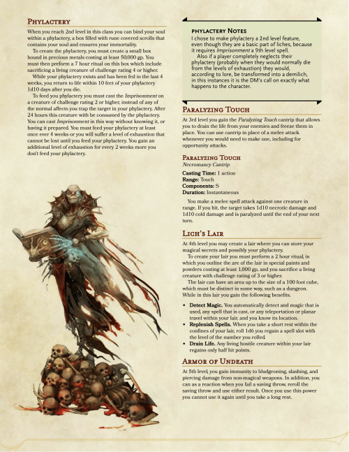 Lich 5e Stats : stats, Dnd-5e-homebrew, Homebrew,, Dungeons, Dragons, Classes