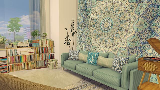 The Sims 4 Room Boho Living Room Living room sims 4