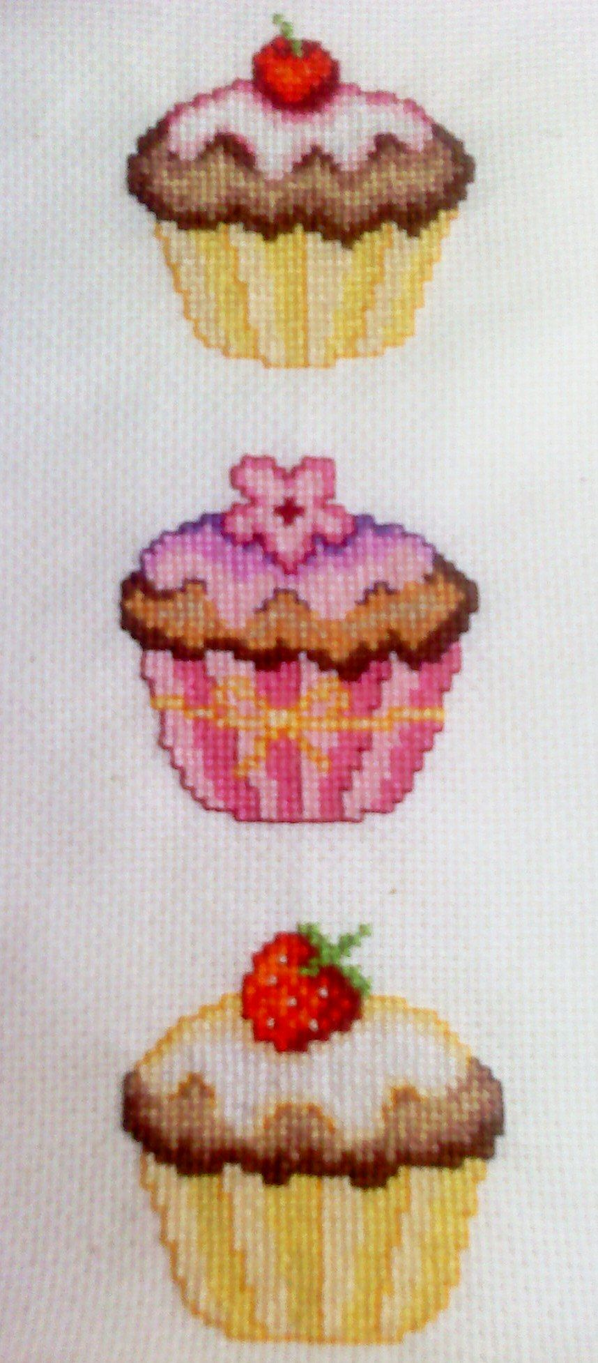 Cross Stitched Cupcakes