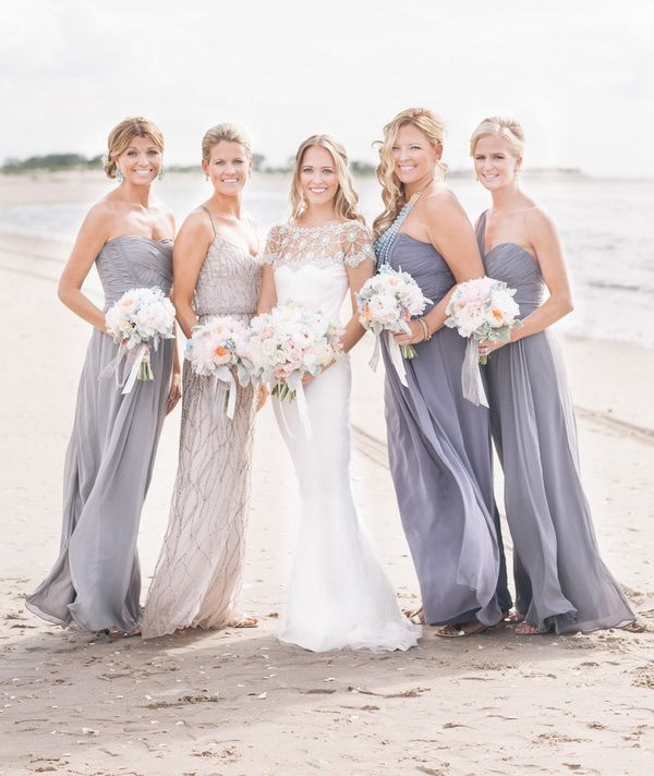 Fresh ideas for nautical summer style weddings 2014 grey for Gray dresses for a wedding