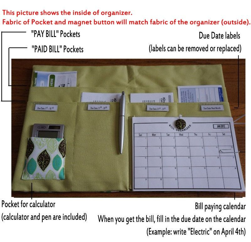 The Complete Bill Organizer With Calendar And Bill Detailed List