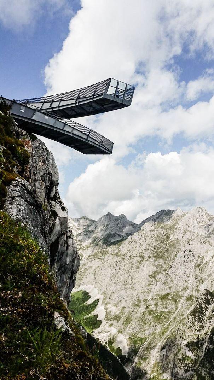Alpspix Viewing Platform Wallmann Architekt Mountain Landscape Landscape Design Mountain Landscape Bridge Design