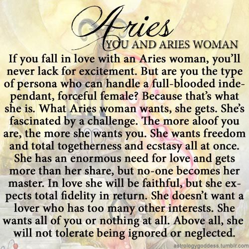 Ignoring an aries woman