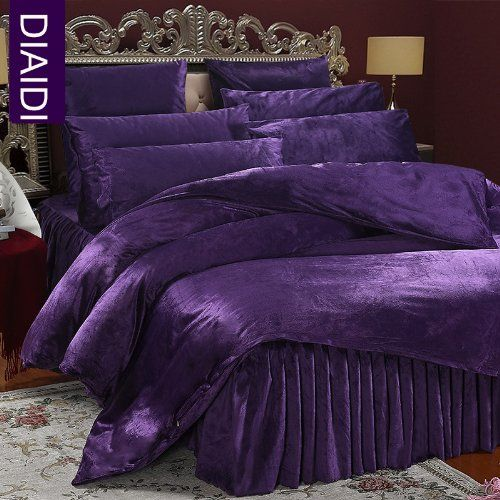 Diaidi Home Textile Luxury Soft Velvet Bedding Set Winter Bedding