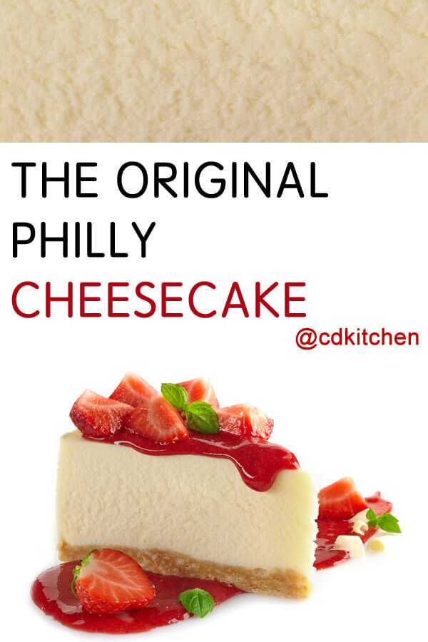 Original Philly Cheesecake Recipe | CDKitchen.com