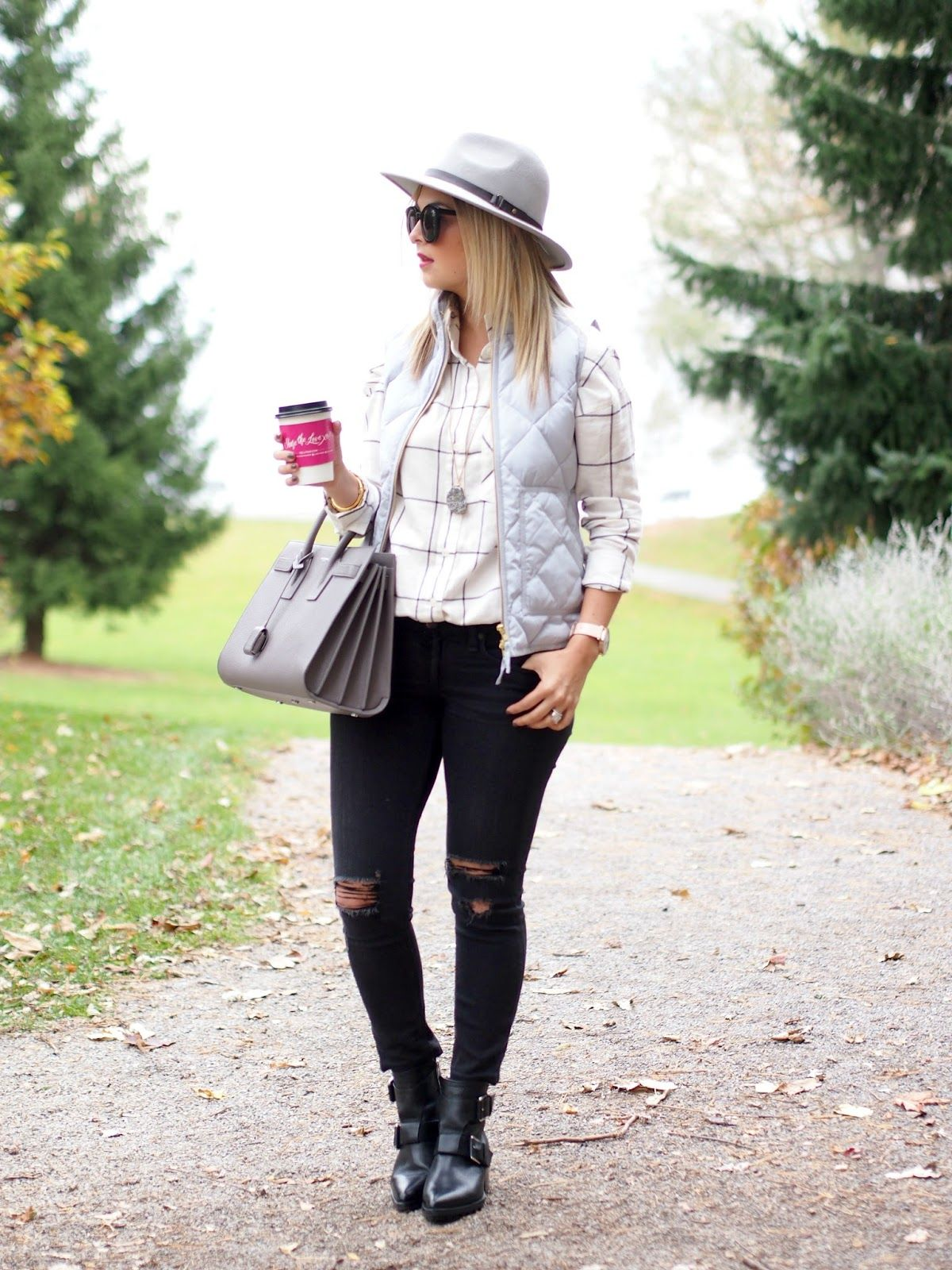 Flannel and denim jacket outfit  Woodsy  SUBURBAN FAUX PAS by Krystin Lee  Pinterest  Hijab chic