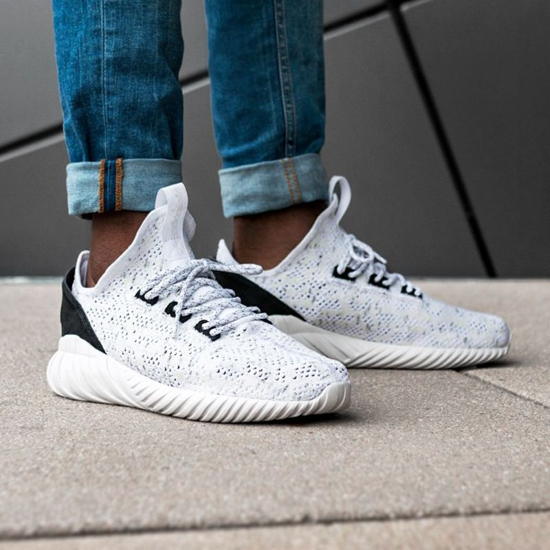 adidas Tubular Doom Sock Primeknit (BY3558) White Black USD 105 HKD 820 New  Arrival 3f6007dea9