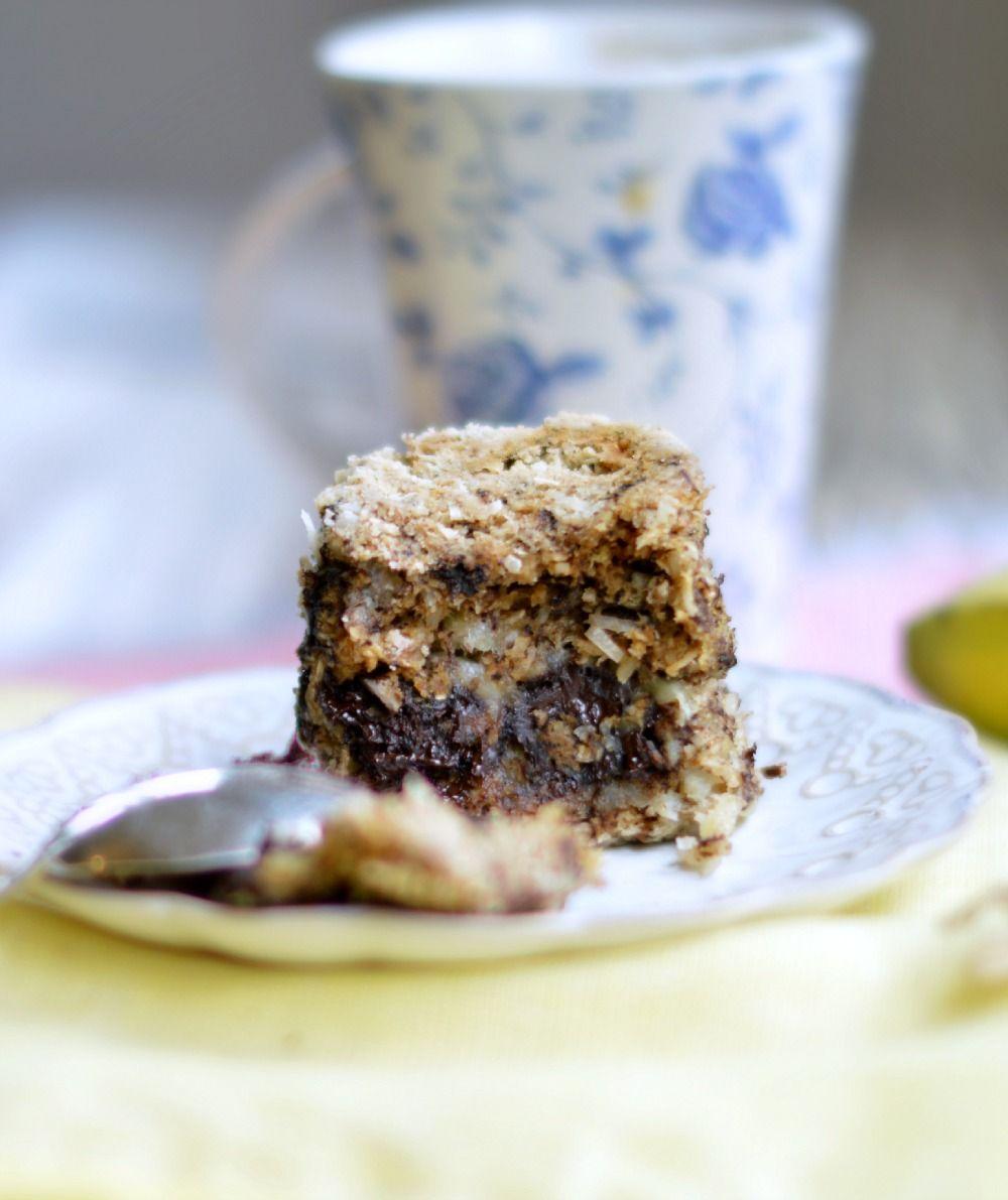 Chocolate #coconut mug cake #healthy #dessert #recipe #chocolate #coconut #mug #cake